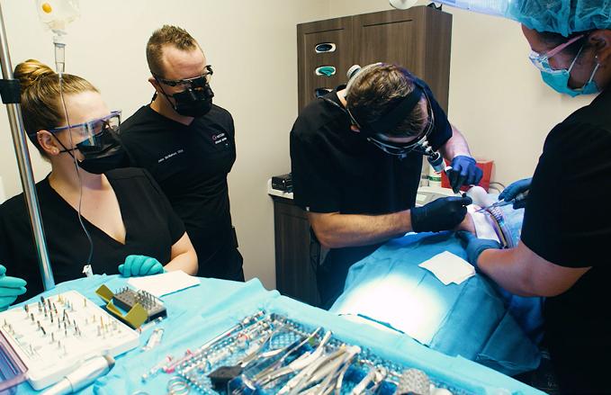 Dental Implants procedure in action